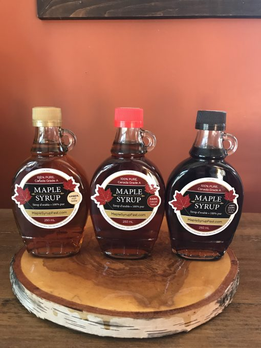 250 ml amber, dark and very dark maple syrup